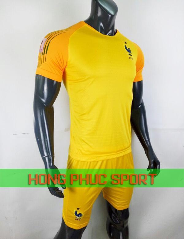 Bộ áo thủ môn tuyển Pháp World Cup 2018 màu vàng