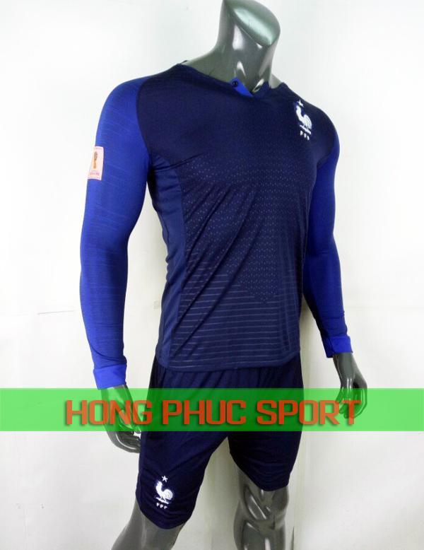 Bộ áo đấu tuyển Pháp sân nhà tay dài World Cup 2018