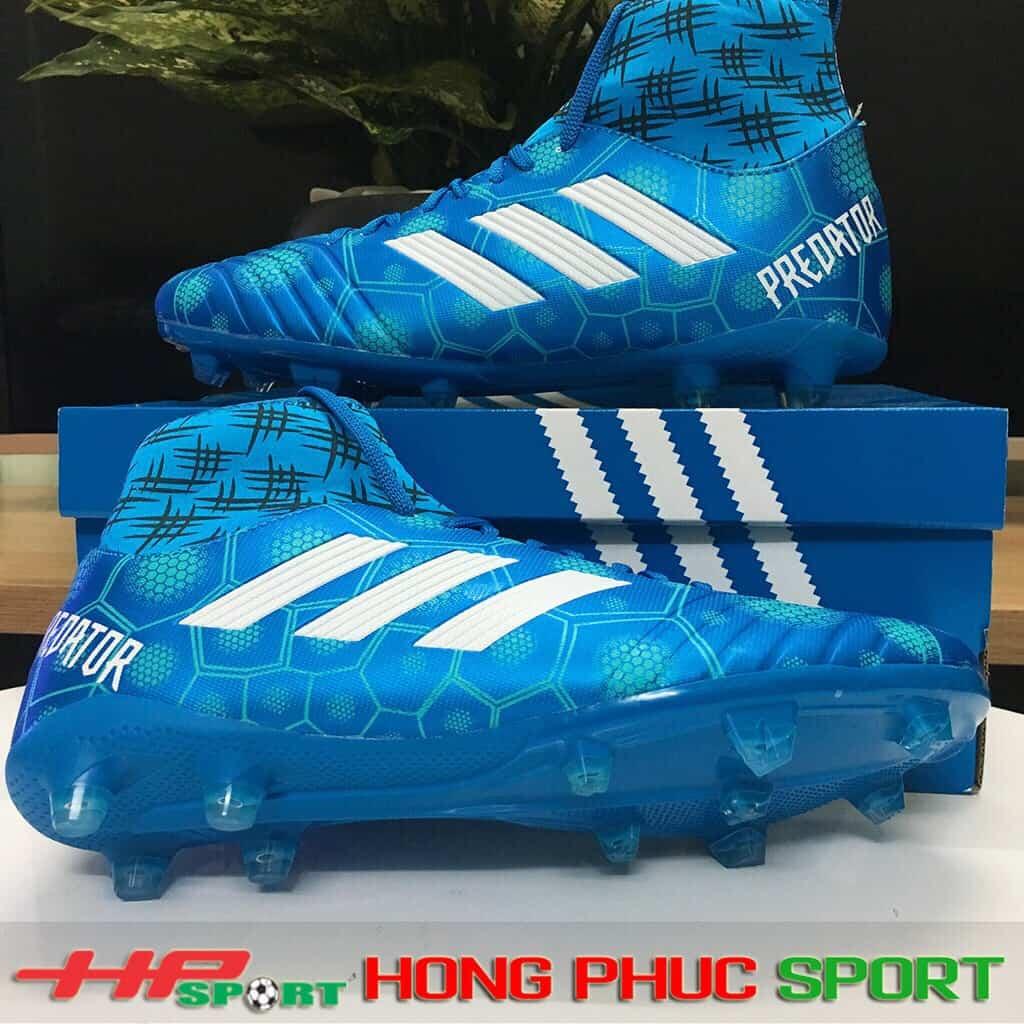 Giày bóng đá cổ cao sân cỏ tự nhiên TN300 xanh dương