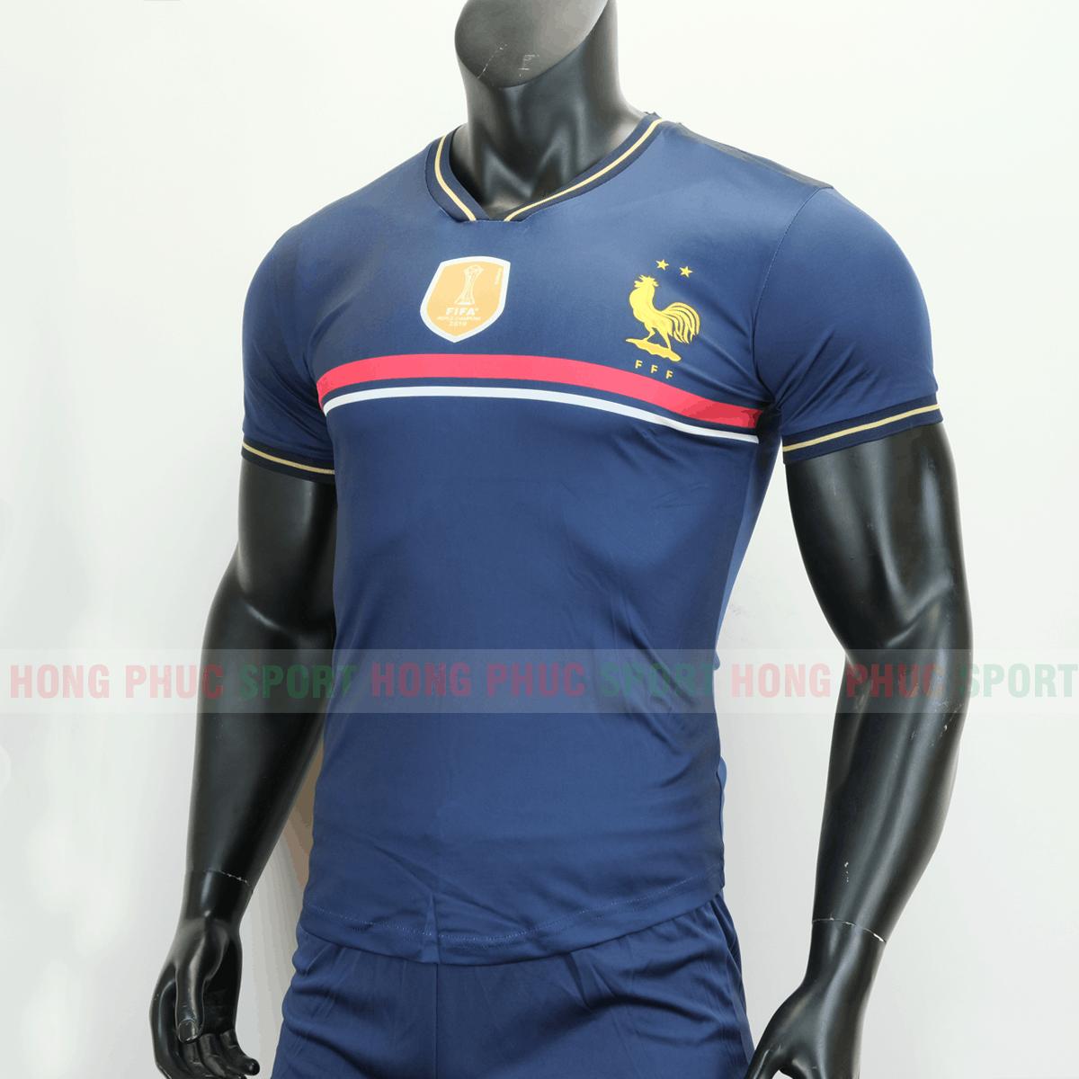 Áo đá bóng đội tuyển quốc gia Pháp 2019 màu tím than