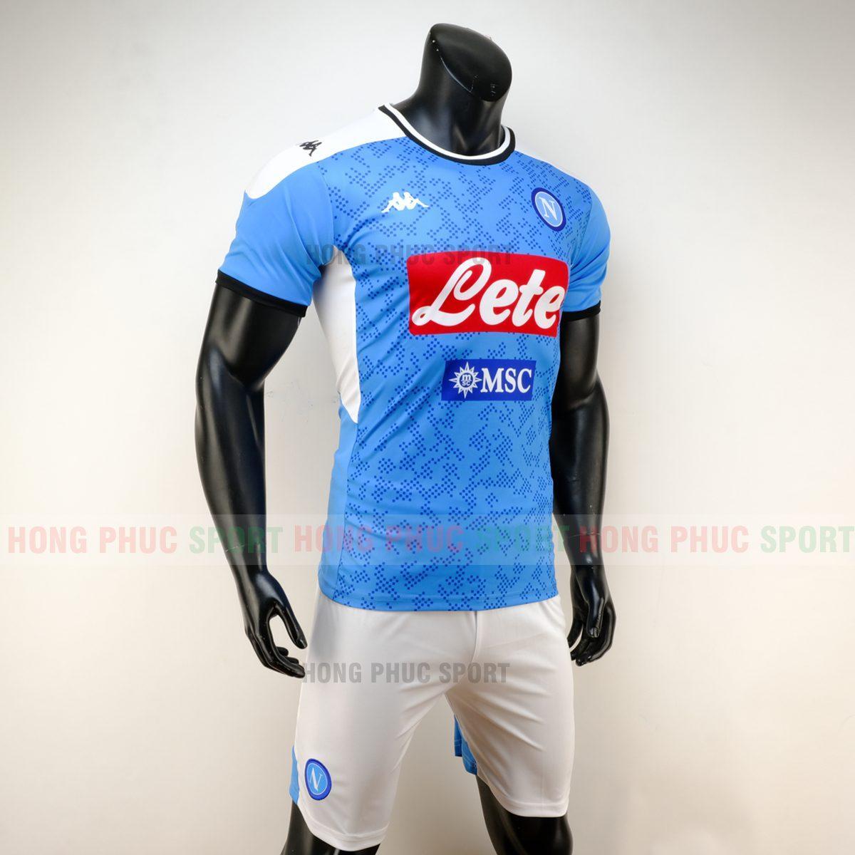 Áo đá bóng Napoli sân nhà 2019 2020 màu xanh lam