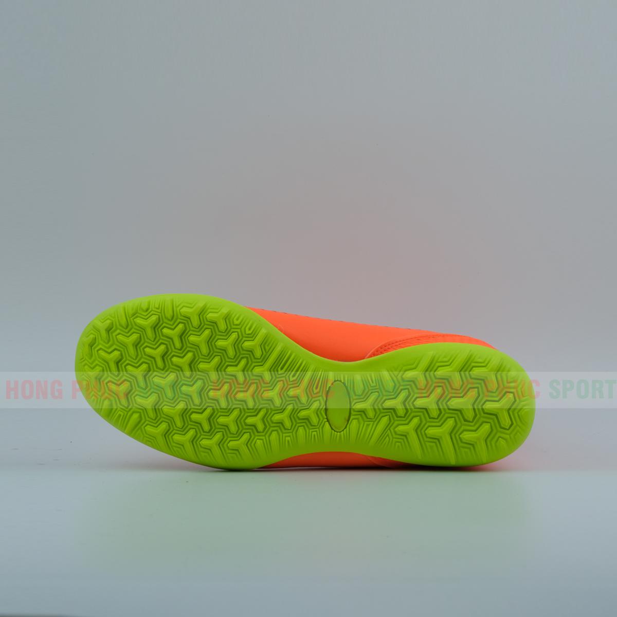Giày đá banh cao cổ cao cấp sân cỏ nhân tạo Plus 2019 cam đế xanh