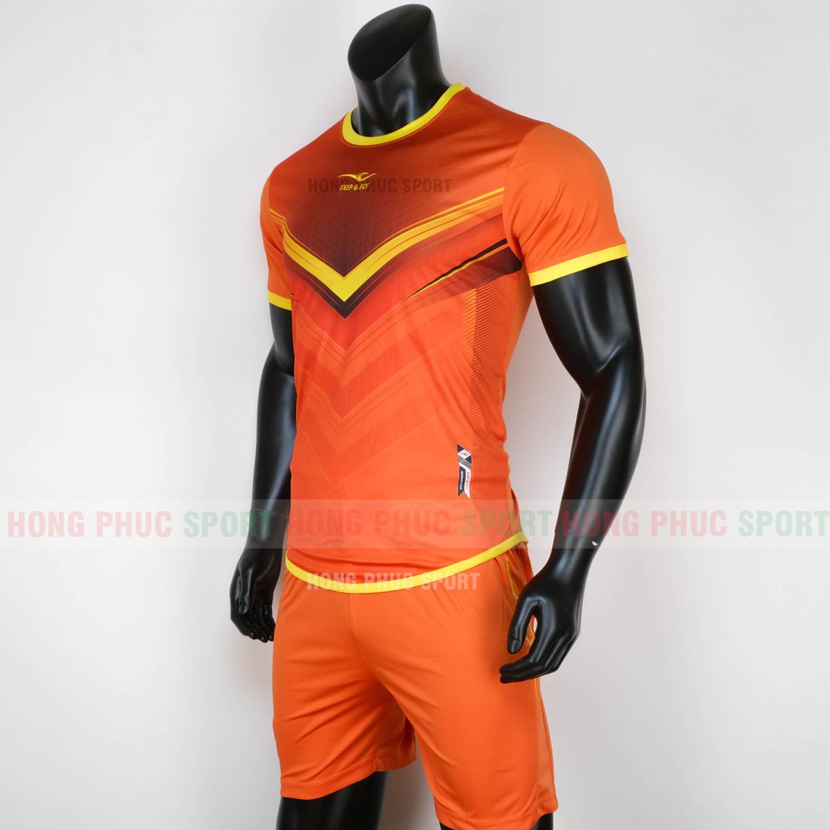 Áo bóng đá không logo Monster Keep Fly 2020 màu cam