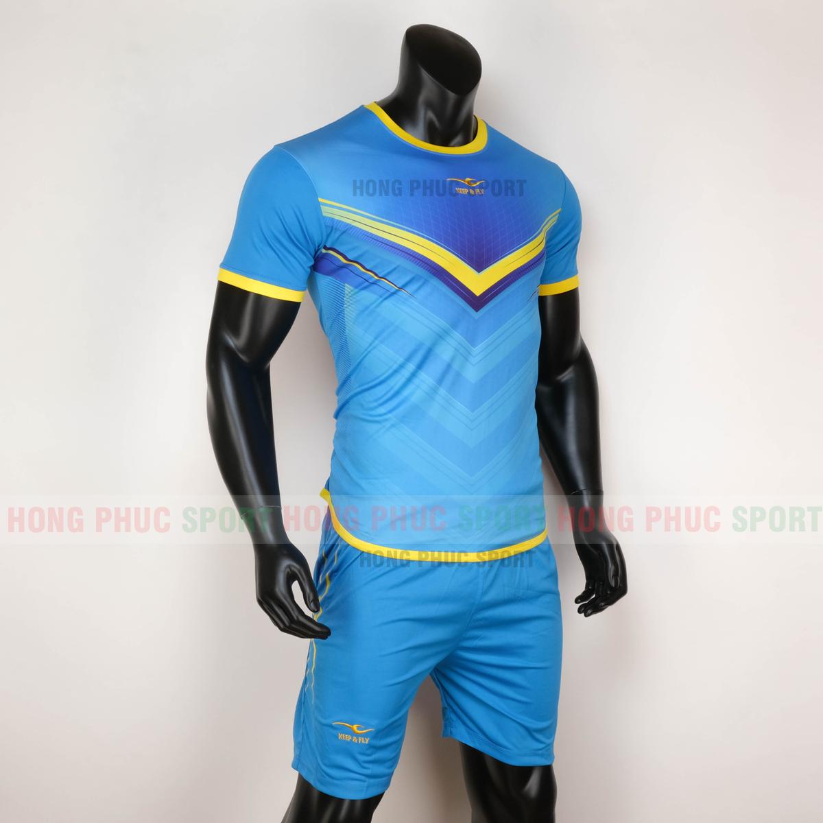 Áo bóng đá không logo Monster Keep Fly 2020 màu xanh dương