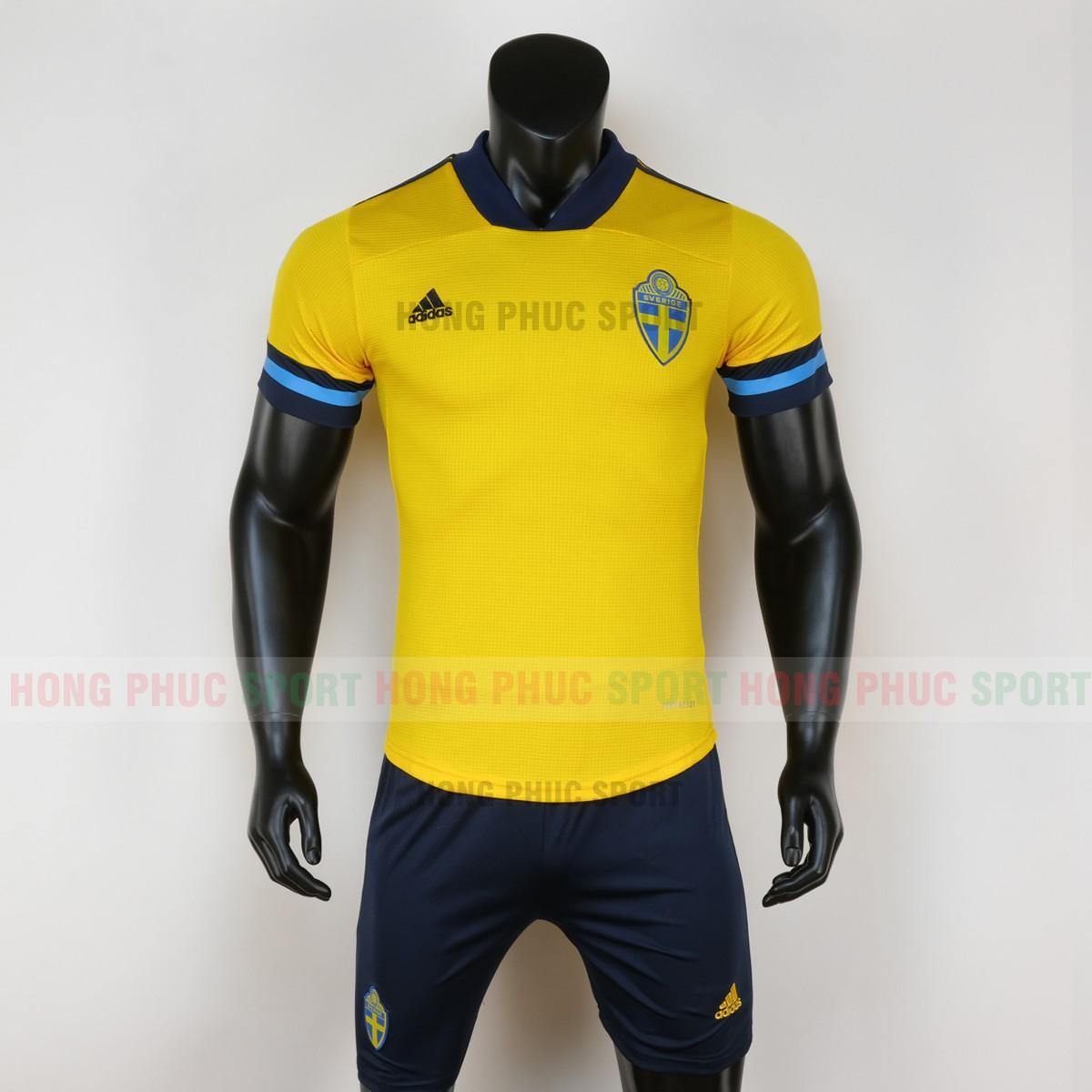 Áo bóng đá đội tuyển Thụy Điển sân nhà Euro 2020 màu vàng