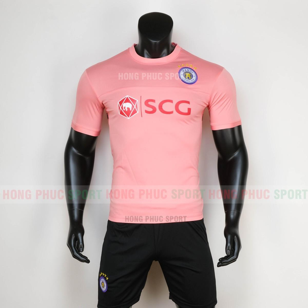 Áo bóng đá training Hà Nội 2020 2021 màu hồng