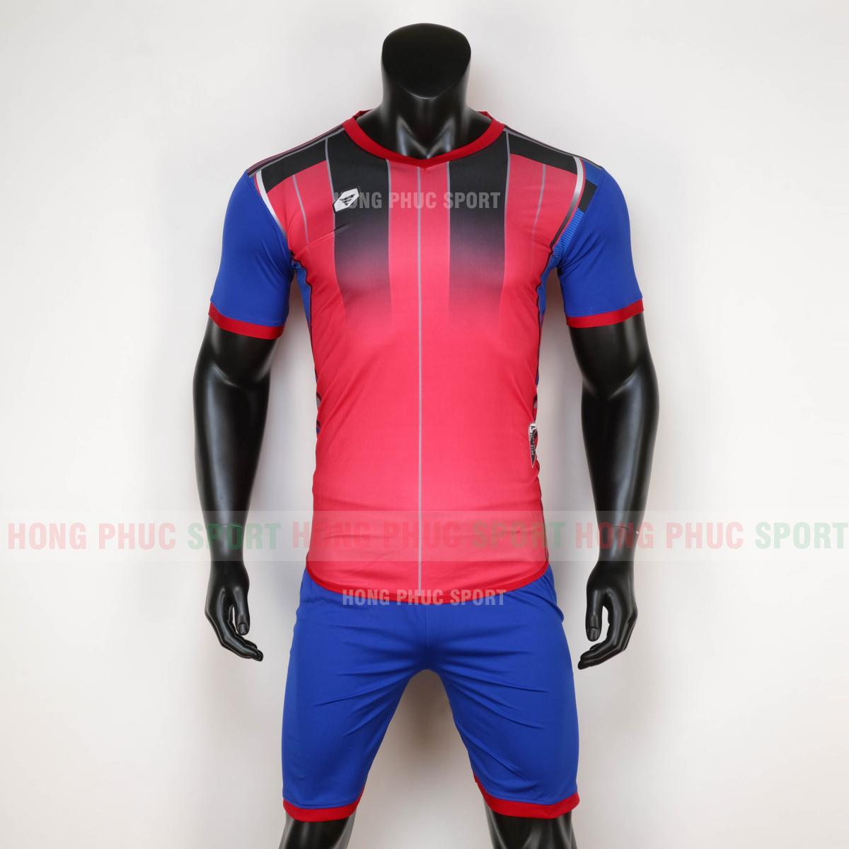Áo bóng đá không logo TARGET 2020 đỏ xanh