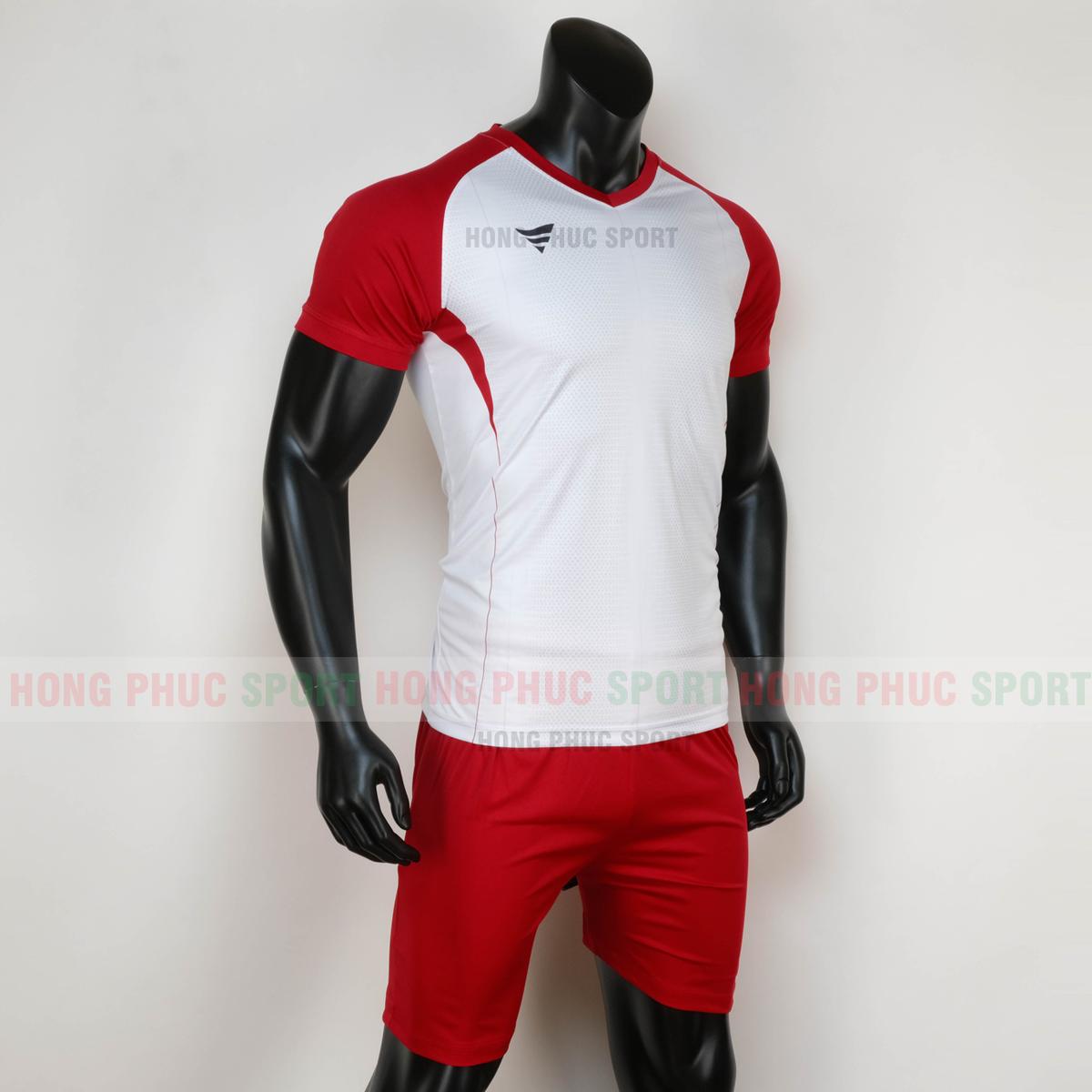 Áo đấu không logo WINROAD 2020 trắng đỏ