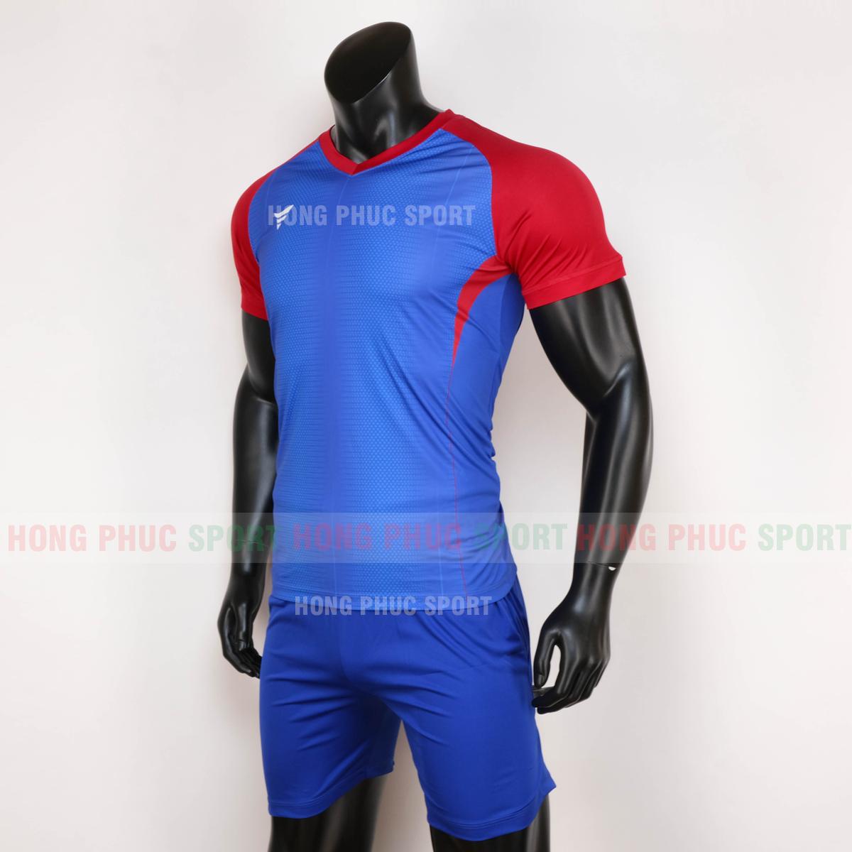 Áo đá bóng không logo WINROAD 2020 xanh dương