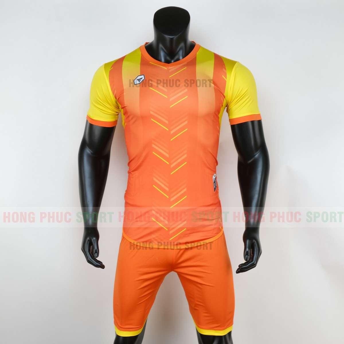 Mẫu áo bóng đá không logo DEEP 2020 màu cam tự thiết kế