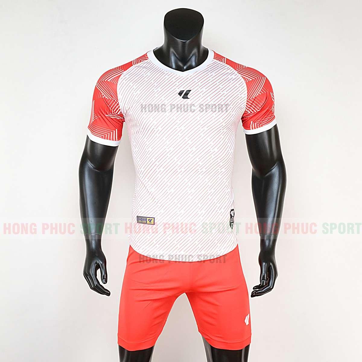 Áo bóng đá không logo Lidas Wariors 2020 màu trắng cam