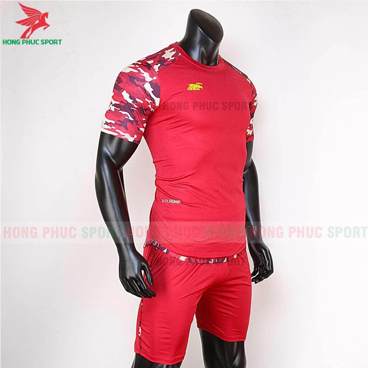 Áo đá banh không logo 2020 Riki Camor đỏ