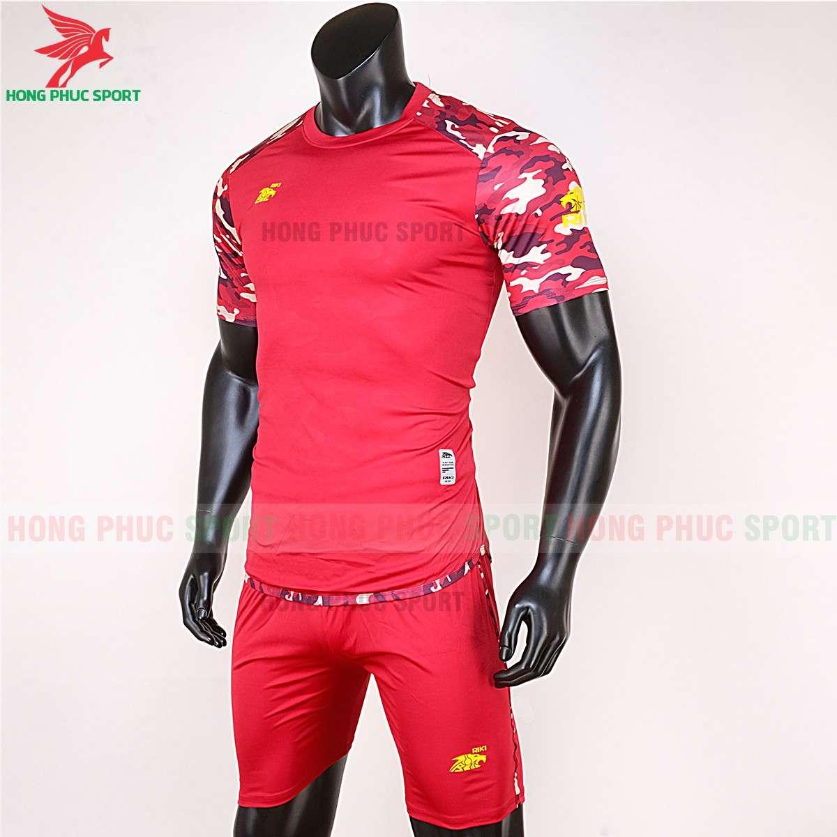 Áo đá bóng không logo 2020 Riki Camor đỏ