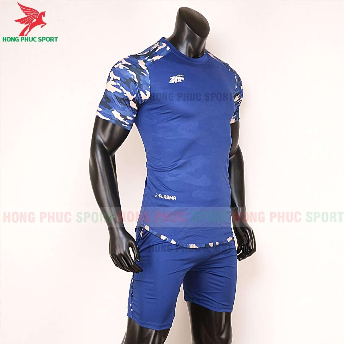Áo đá banh không logo 2020 Riki Camor xanh bích