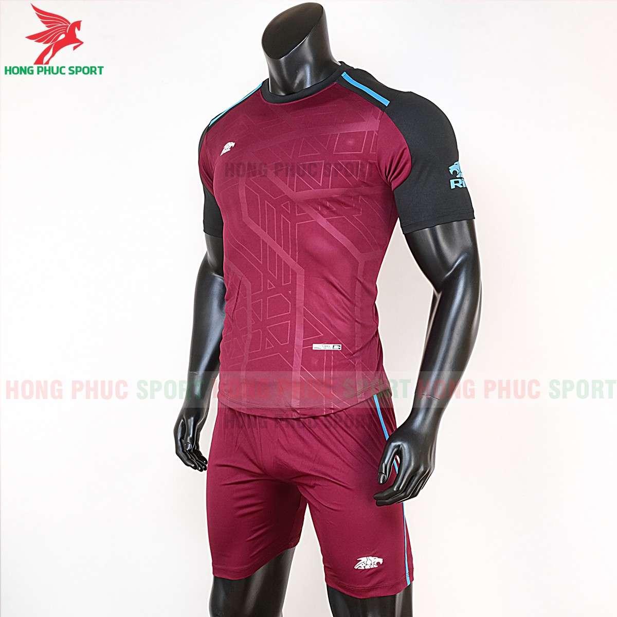 Áo đá bóng không logo 2020 Riki Shamon đỏ đô