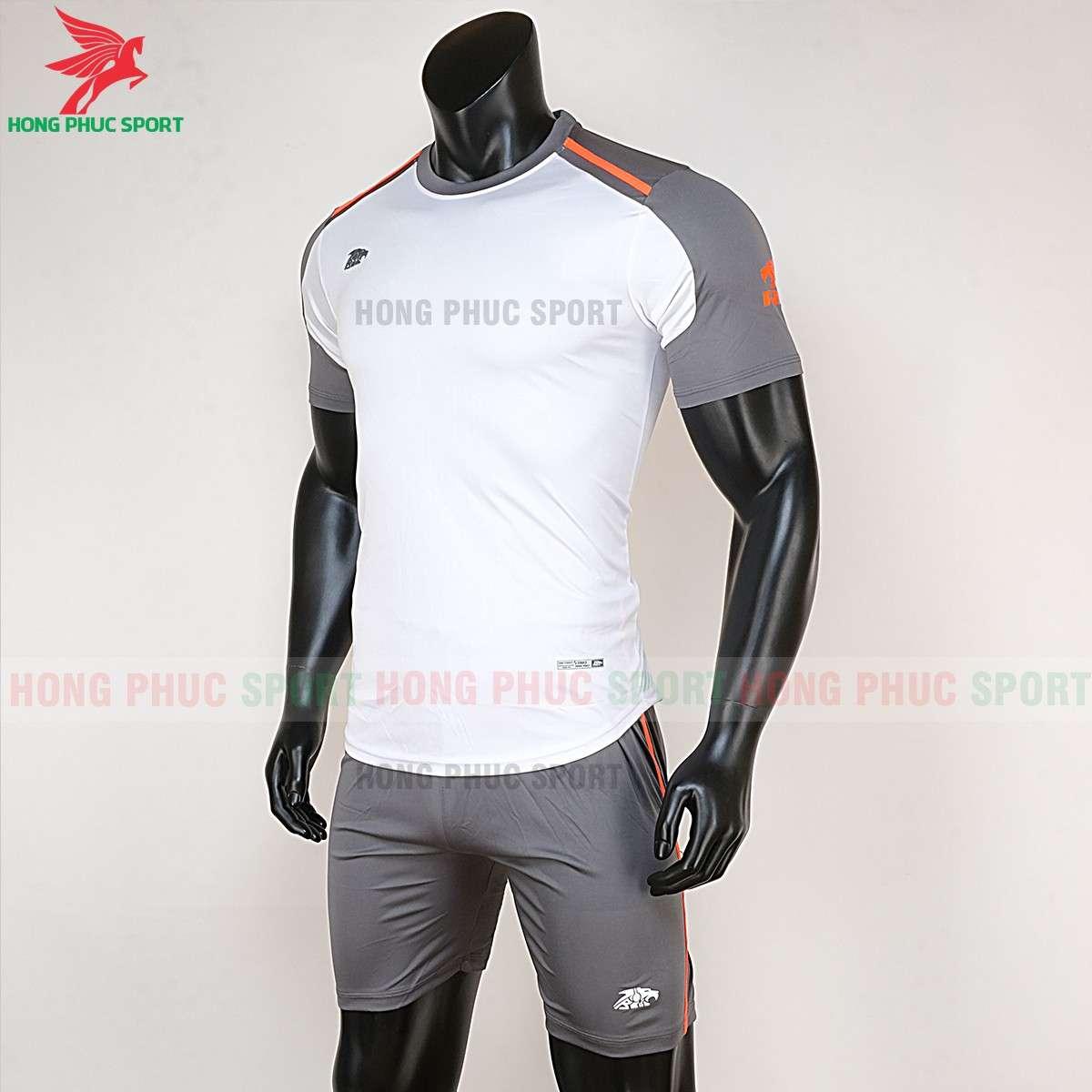 Áo đá bóng không logo 2020 Riki Shamon trắng