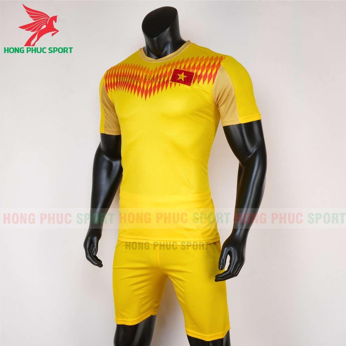 Áo đá bóng tập đội tuyển Việt Nam 2020 màu vàng hàng ThaiLand cao cấp