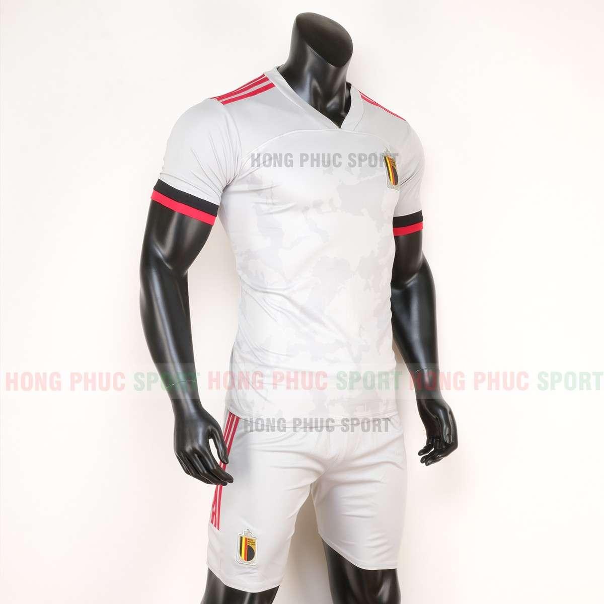 Mẫu áo đấu đội tuyển Bỉ sân khách Euro 2020 màu trắng