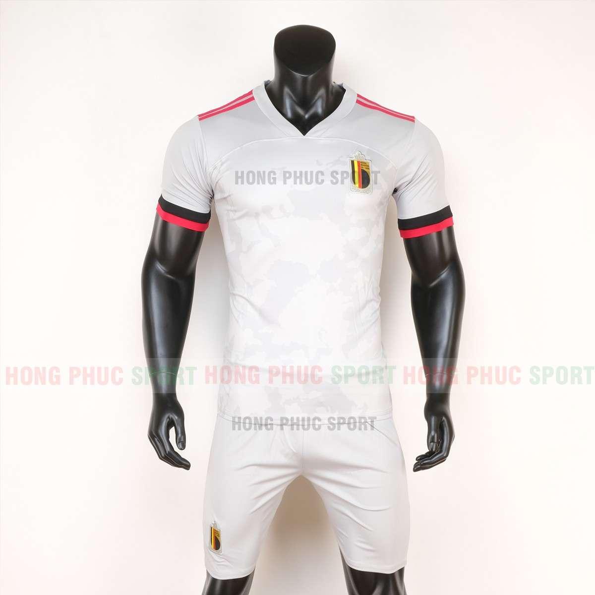 Mẫu áo bóng đá đội tuyển Bỉ sân khách Euro 2020 màu trắng