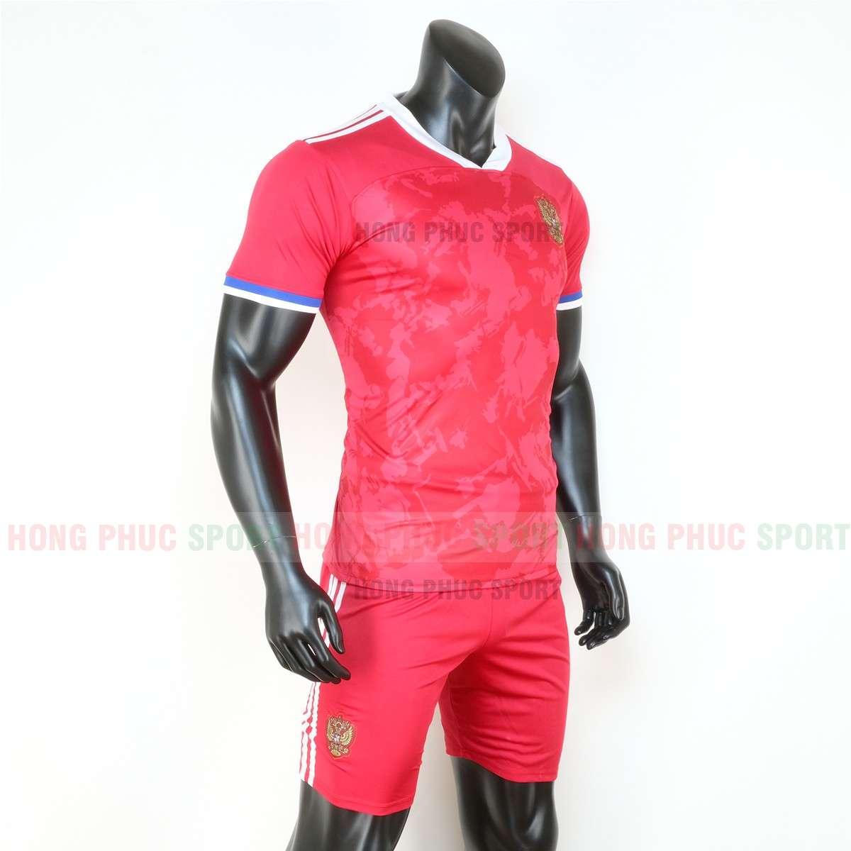 Hình ảnh áo đấu tuyển Nga sân nhà Euro 2020 màu đỏ chính hãng