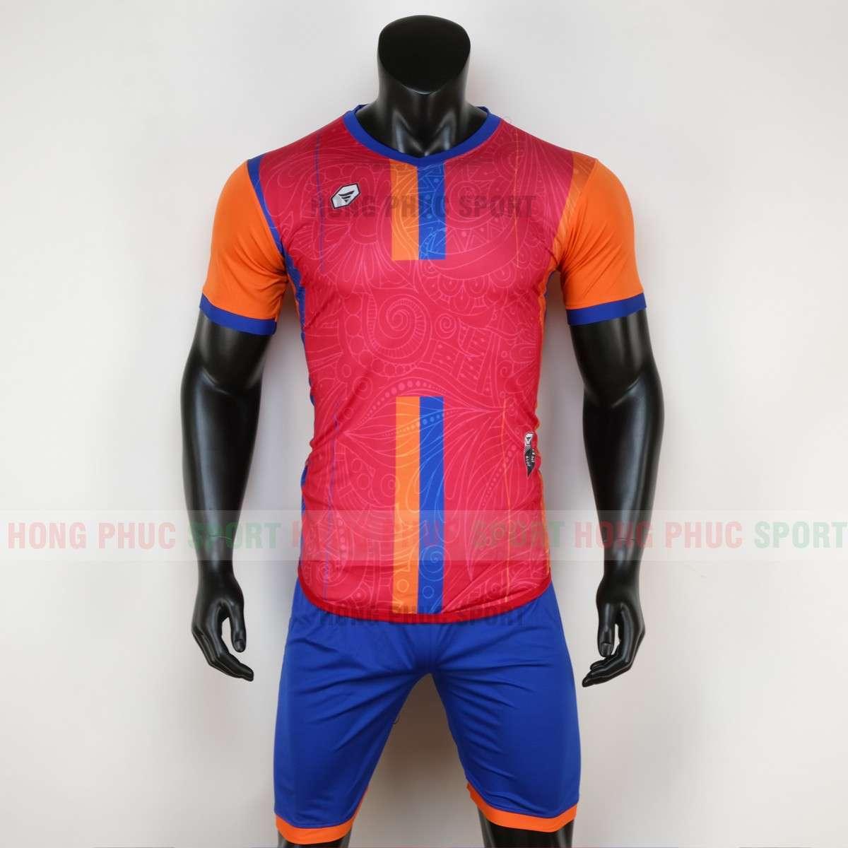 Mẫu áo bóng đá không logo FOREST 2020 màu đỏ tự thiết kế