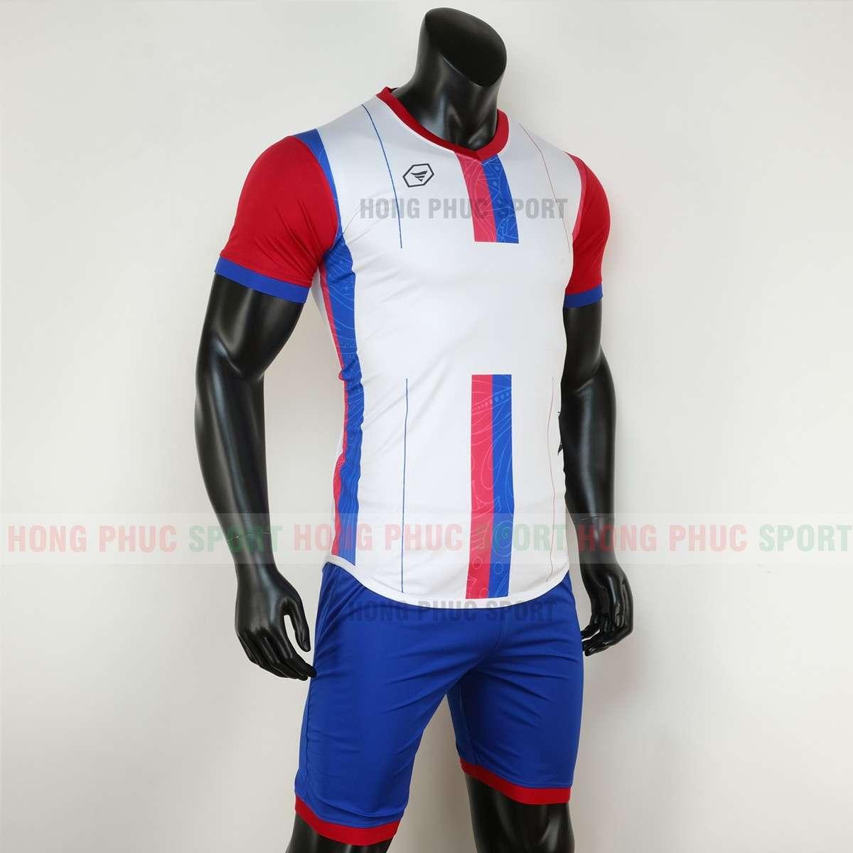 Mẫu áo đấu không logo FOREST 2020 màu trắng tự thiết kế