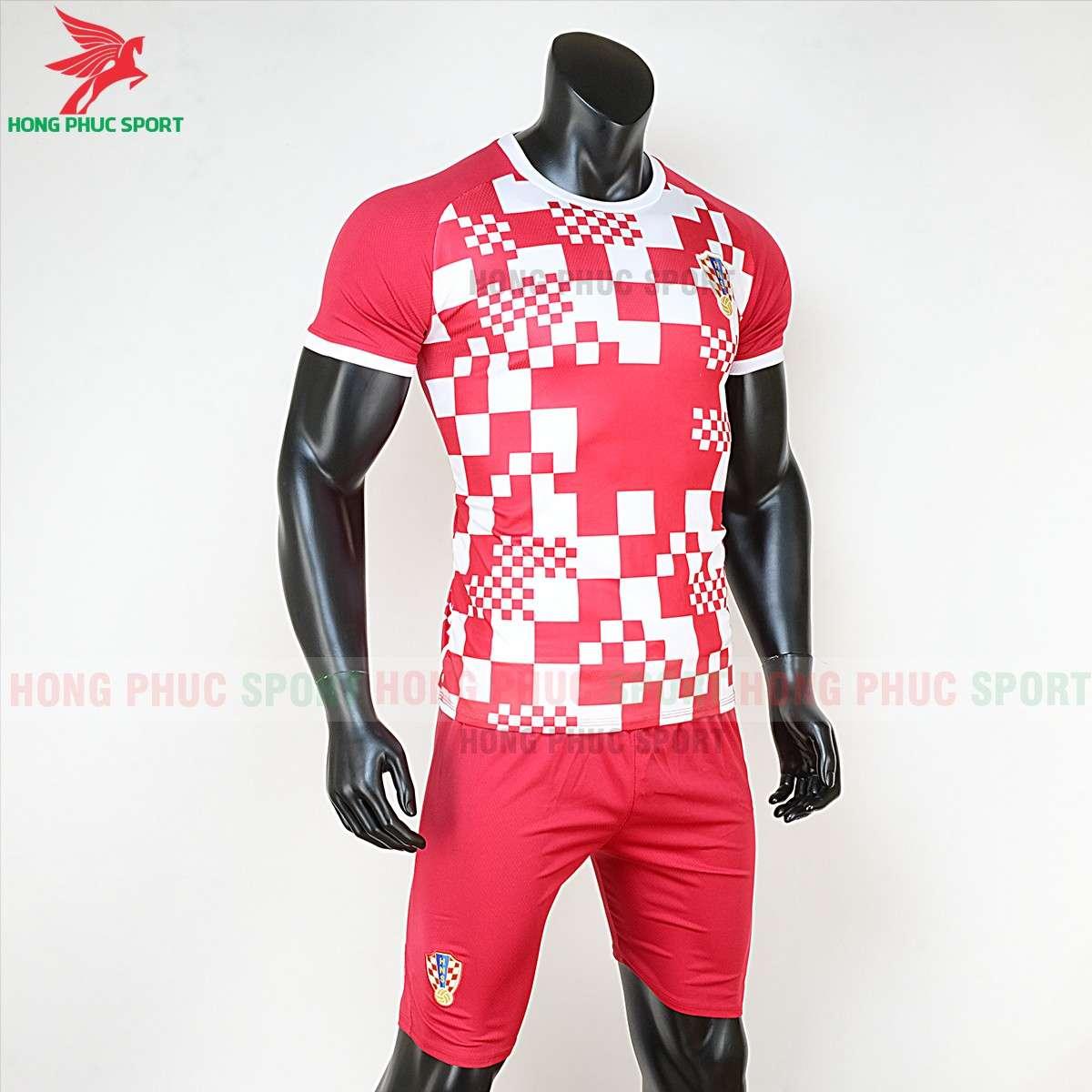 Áo bóng đá tuyển Croatia Euro 2020 sân nhà Caro đỏ trắng (trái)