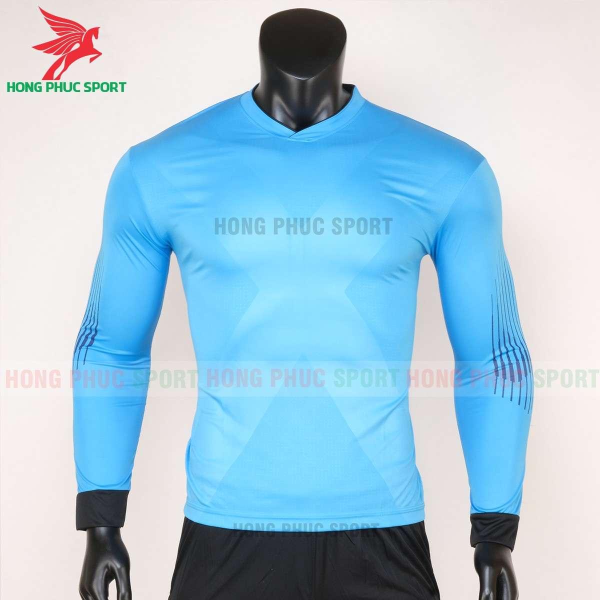 Đồ đá bóng thủ môn tay dài 2020 màu xanh da trời