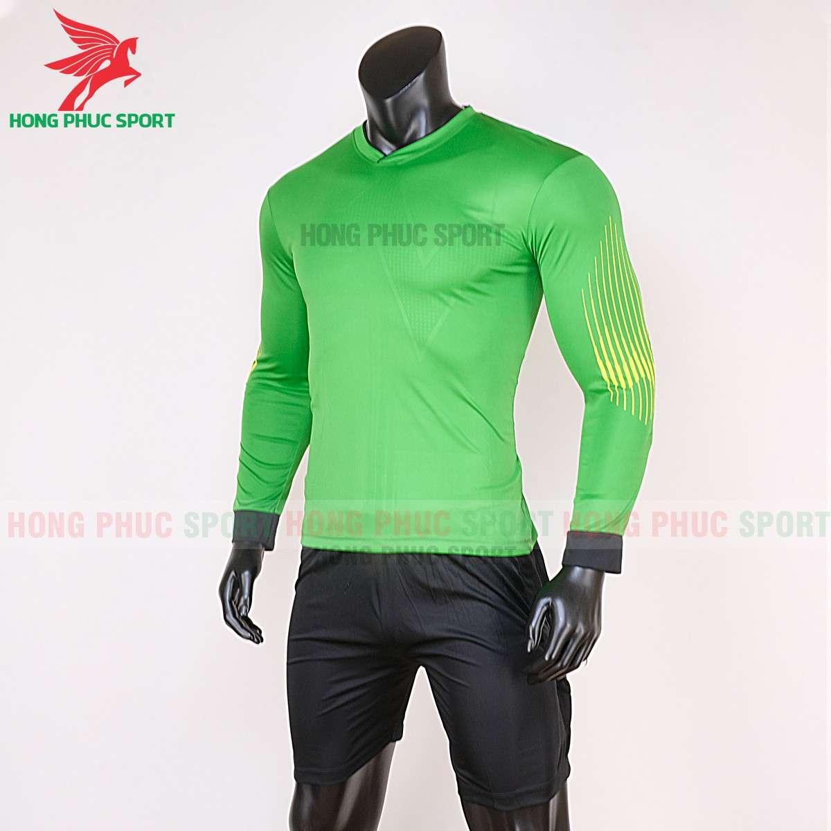 Đồ đá bóng thủ môn tay dài 2020 màu xanh lá cây