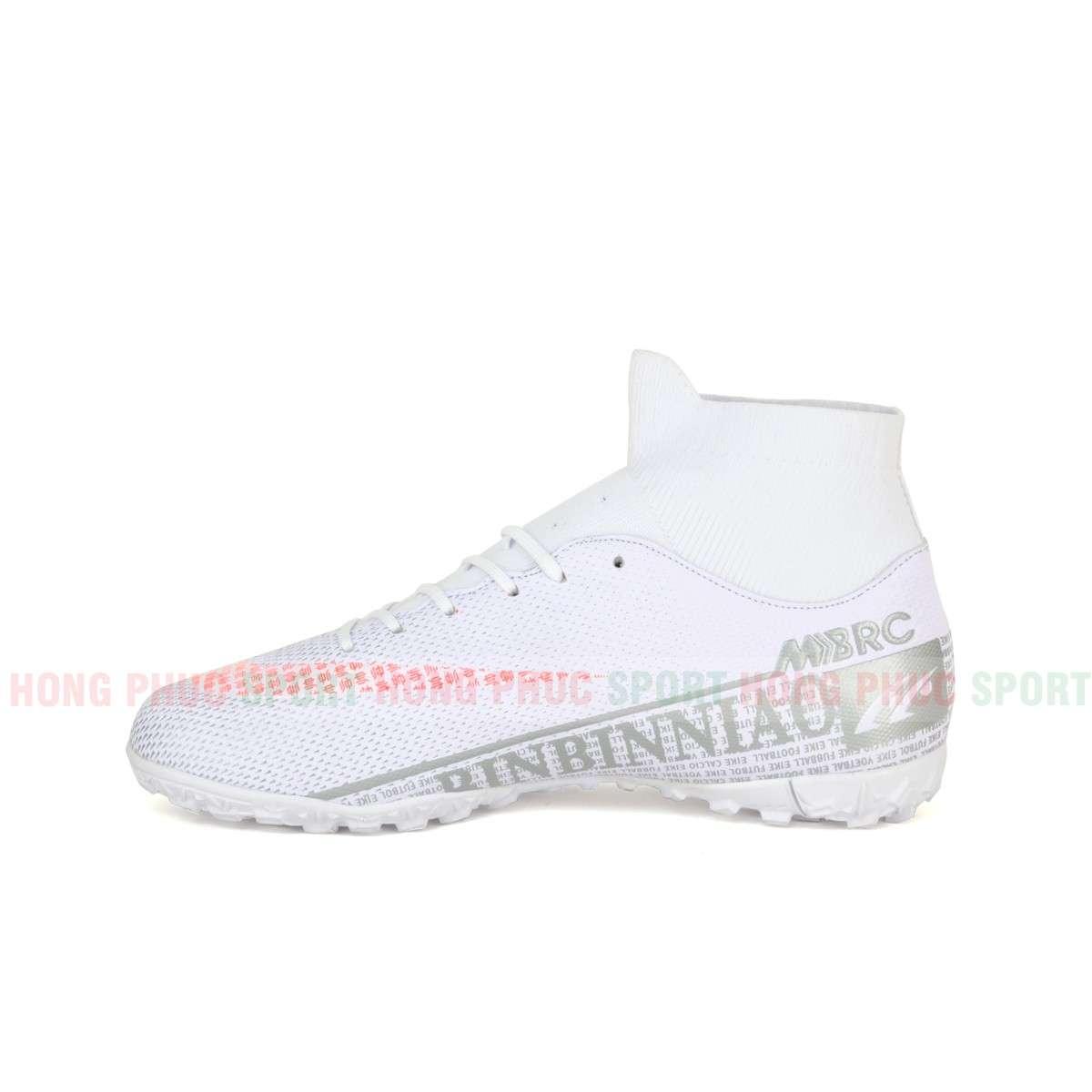 Giày đá bóng cổ cao Mercurial Superfly VII 2020 TF White