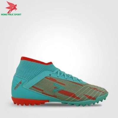 Form giày đá bóng Mitre 181229 màu xanh ngọc phối đỏ