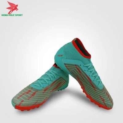 Mẫu giày đá bóng Mitre 181229 xanh ngọc phối đỏ