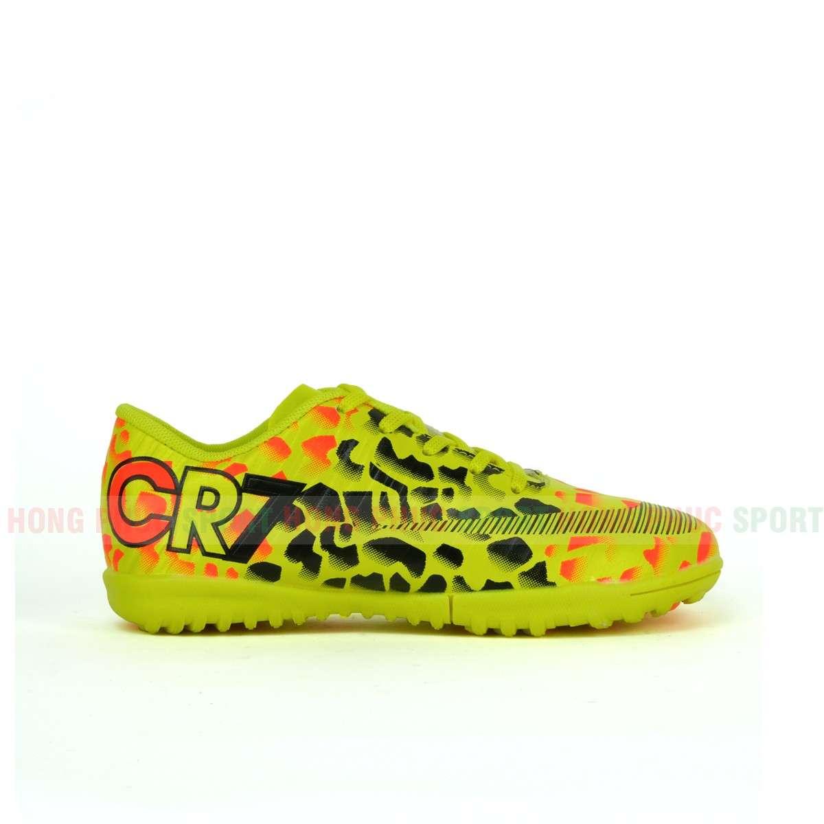 Giày đá bóng CR7 KIDS TF YELLOW-Má ngoài