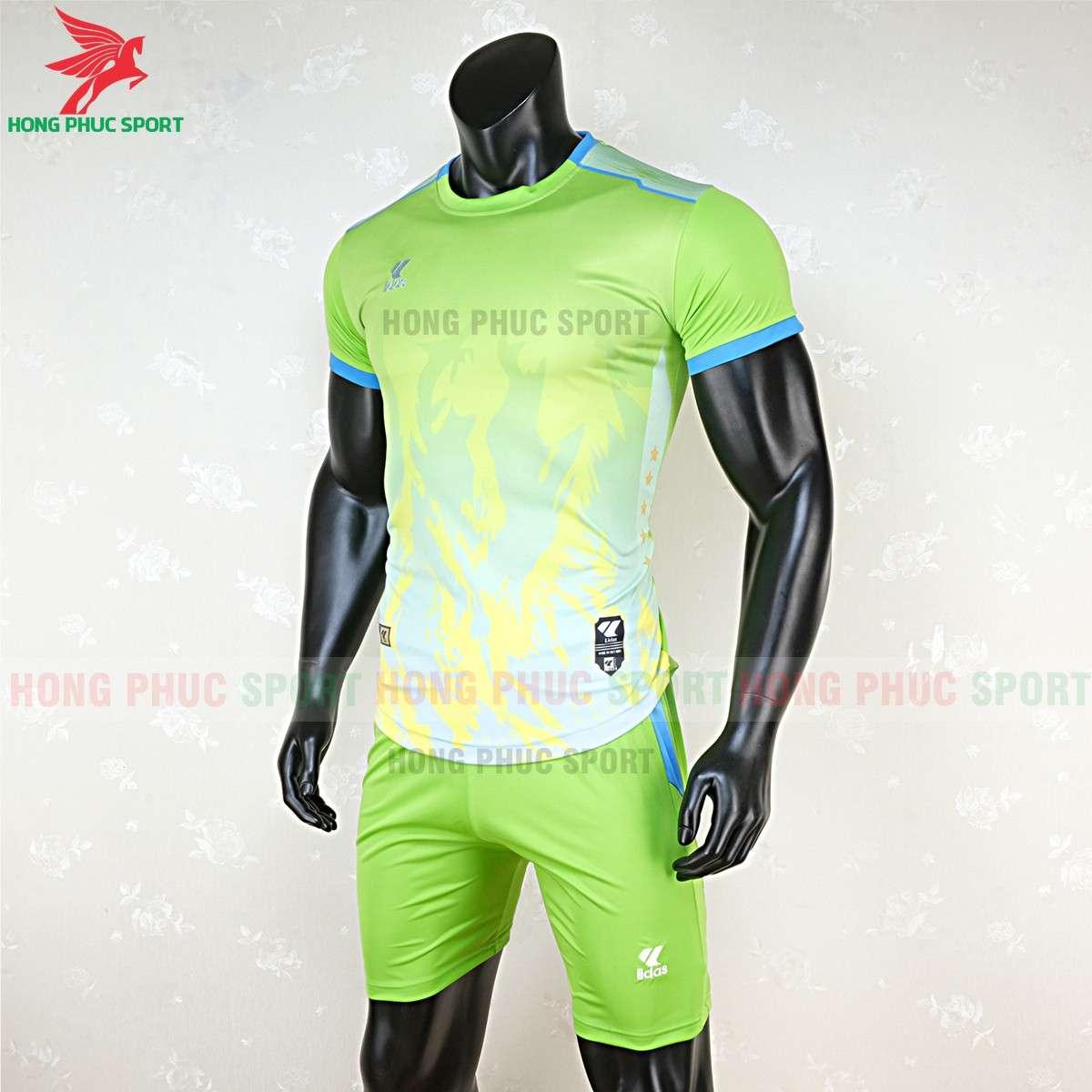 Mẫu áo đá bóng không logo Lidas 089 màu xanh nõn chuối
