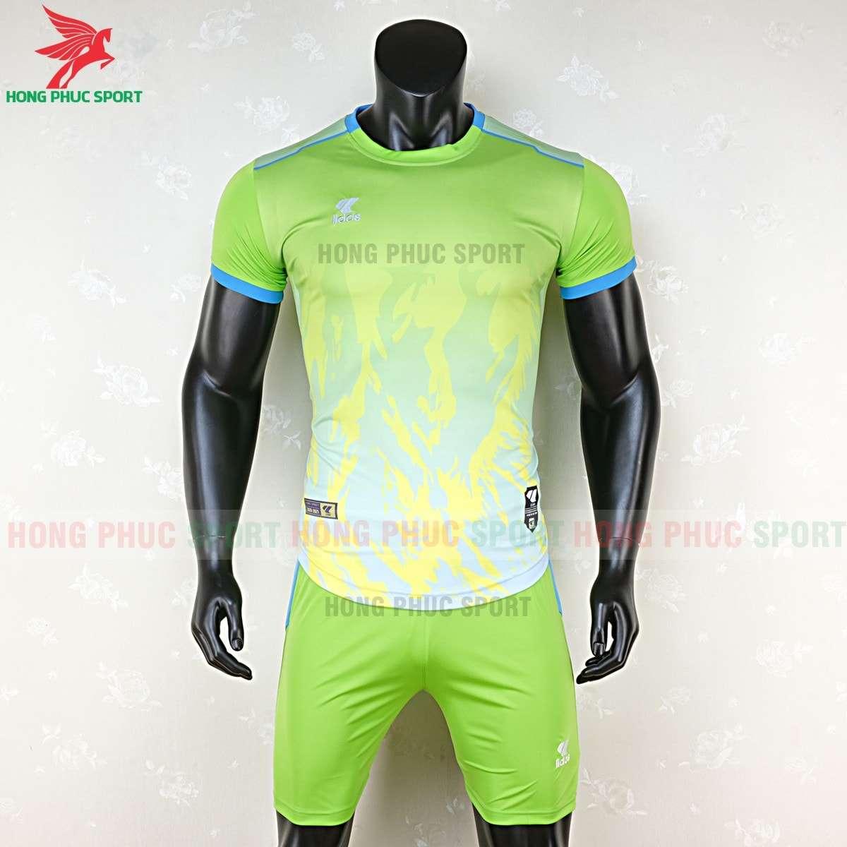 Mẫu áo bóng đá không logo Lidas 089 màu xanh nõn chuối