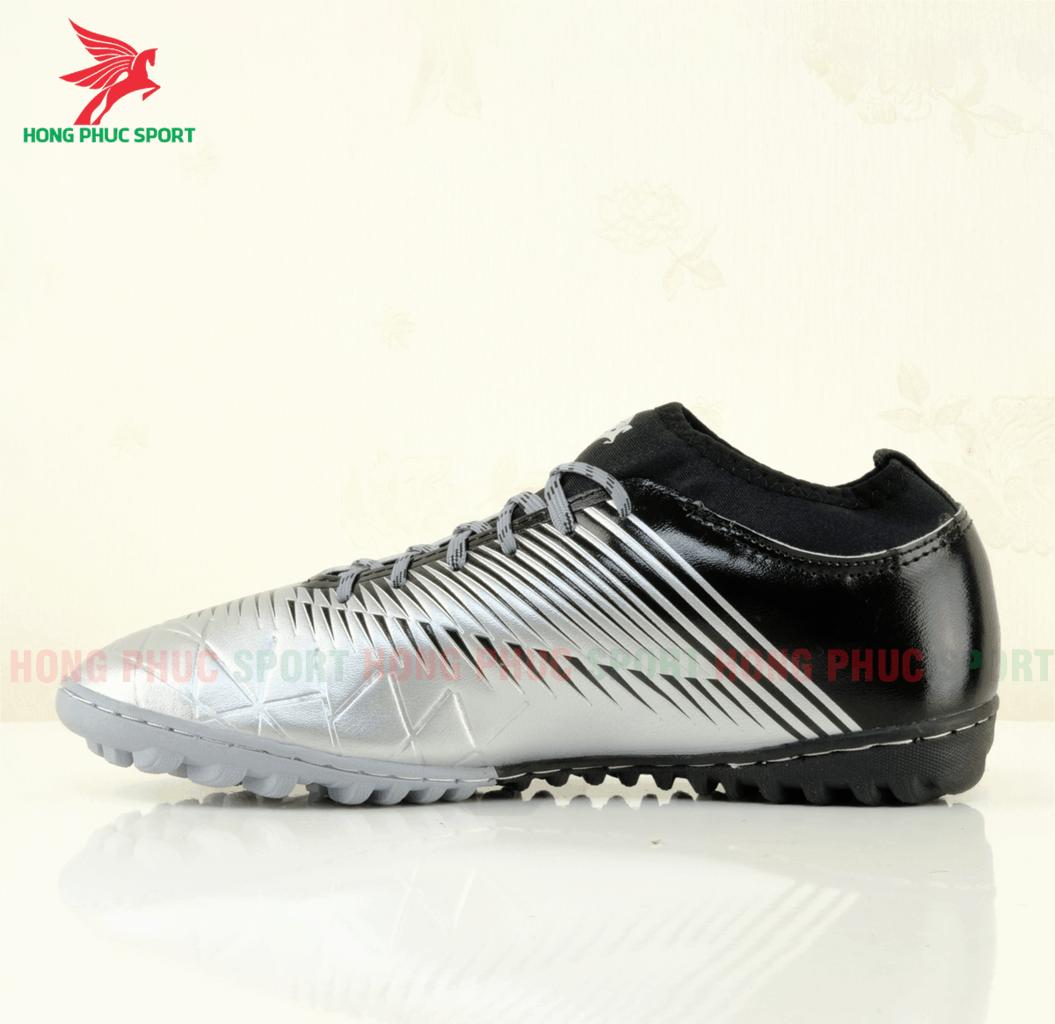 Mặt trong giày đá bóng Hồng Phúc Sport 20.3 tf màu Xám bạc/đen