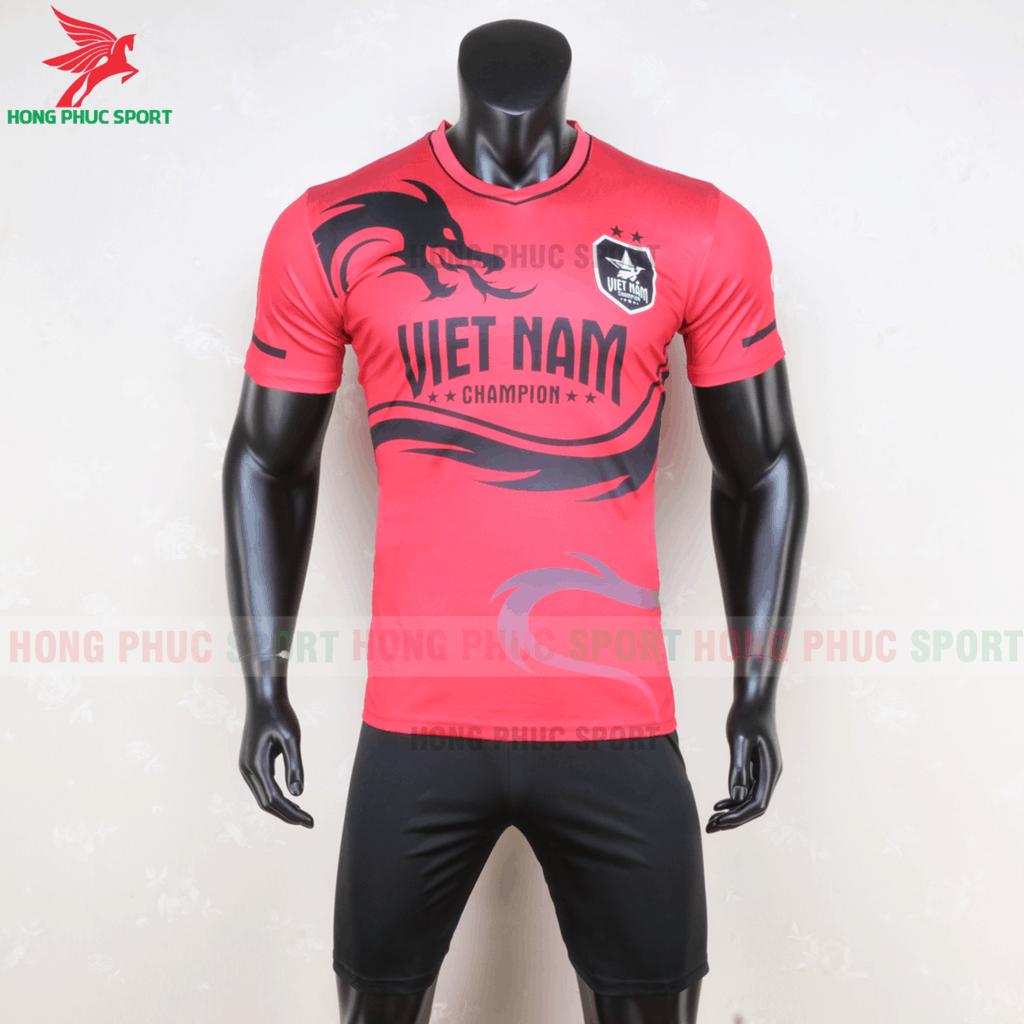 Áo đội tuyển Việt Nam biểu tượng rồng vàng (màu đỏ)