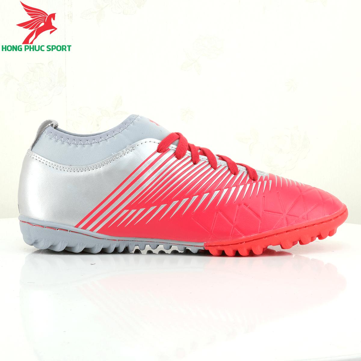 Mặt ngoài giày đá bóng Hồng Phúc Sport 20.3 tf màu đỏ