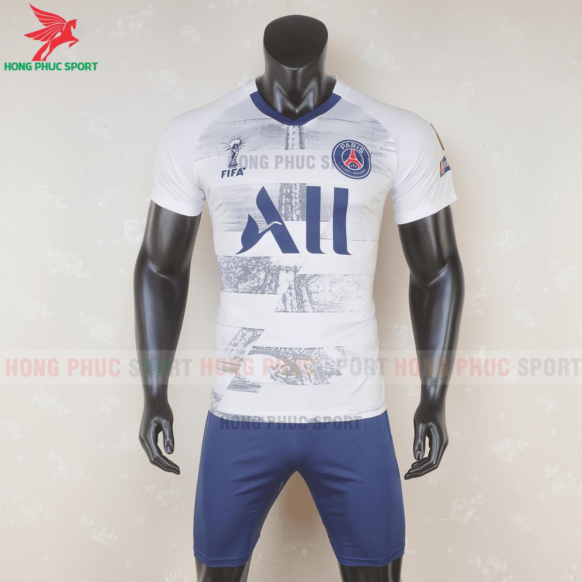 Áo bóng đá Paris Saint Germain 2020 2021 phiên bản fan màu trắng