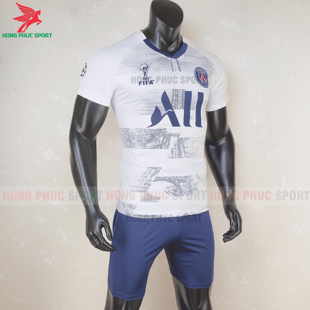 Áo bóng đá Paris Saint Germain 2020 2021 phiên bản fan màu trắng(phải)