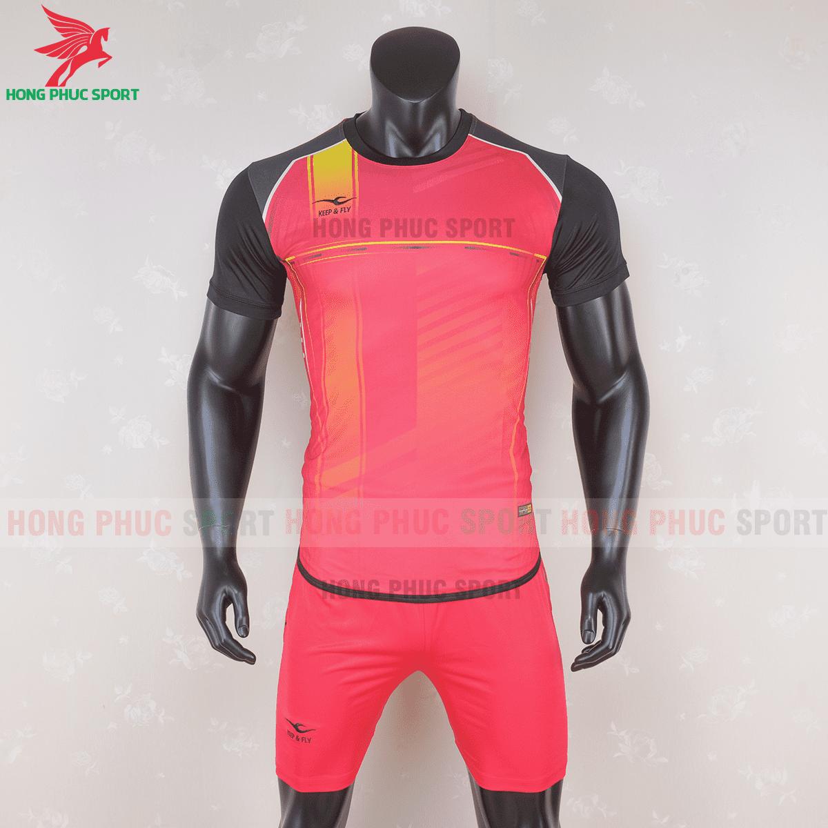Áo không logo Keep & Fly Warrior màu đỏ