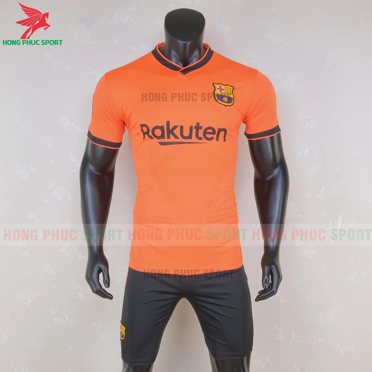 Áo Barcelona 2020 phiên bản fan màu cam (trước)