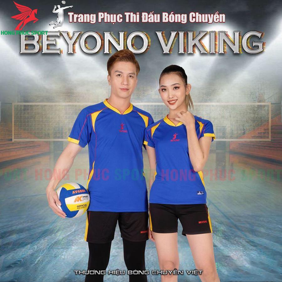 Áo bóng chuyền Beyono 2020 Viking màu xanh