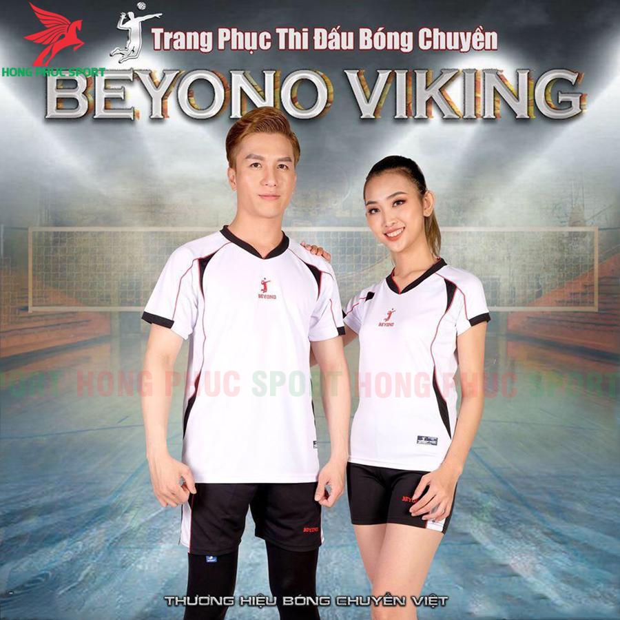 Áo bóng chuyền Beyono 2020 Viking màu trắng