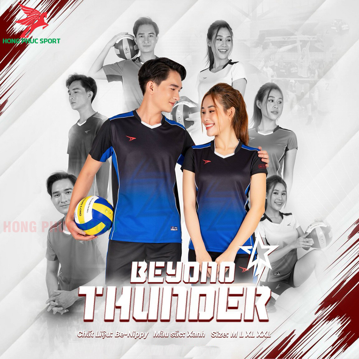 Quần áo bóng chuyềnBEYONO Thunder màu xanh