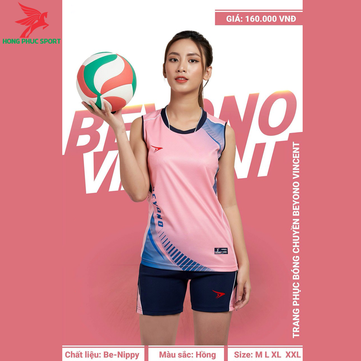 Quần áo bóng chuyềnBEYONOVincentmàu hồng (nữ)