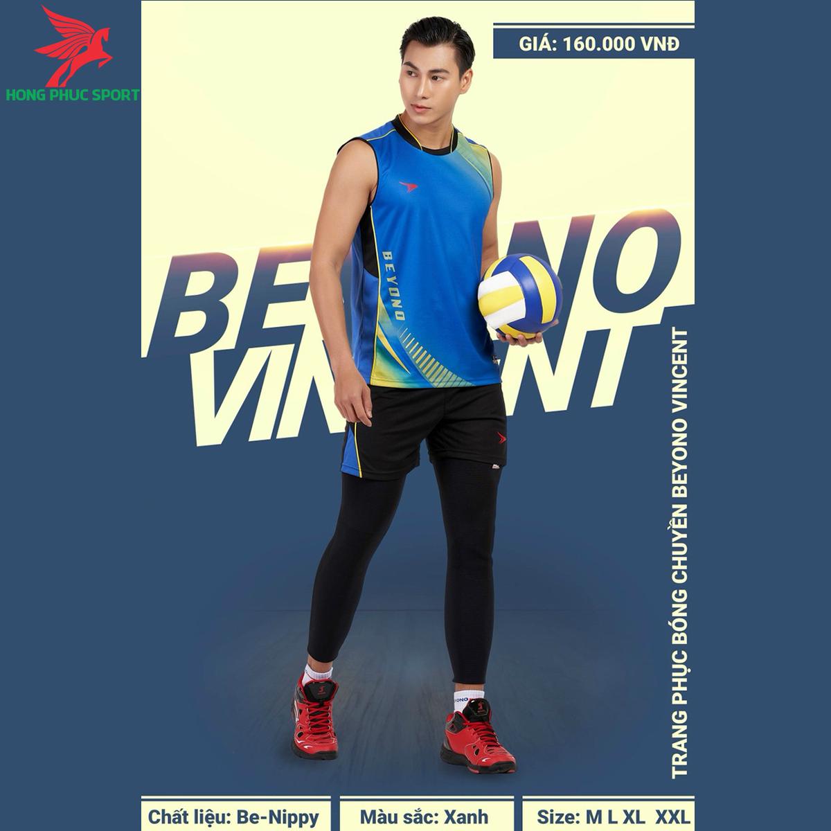Quần áo bóng chuyềnBEYONOVincentmàu xanh dương (nam)