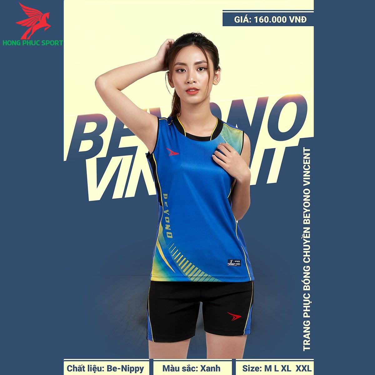 Quần áo bóng chuyềnBEYONOVincentmàu xanh dương (nữ)