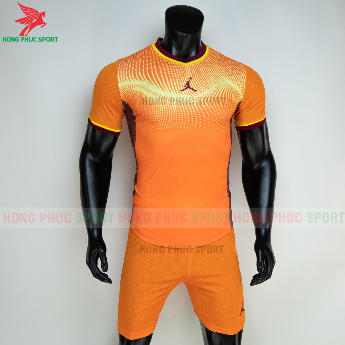 Áo đá banh không logo JORDAN WAVE 2021 màu cam (trước)