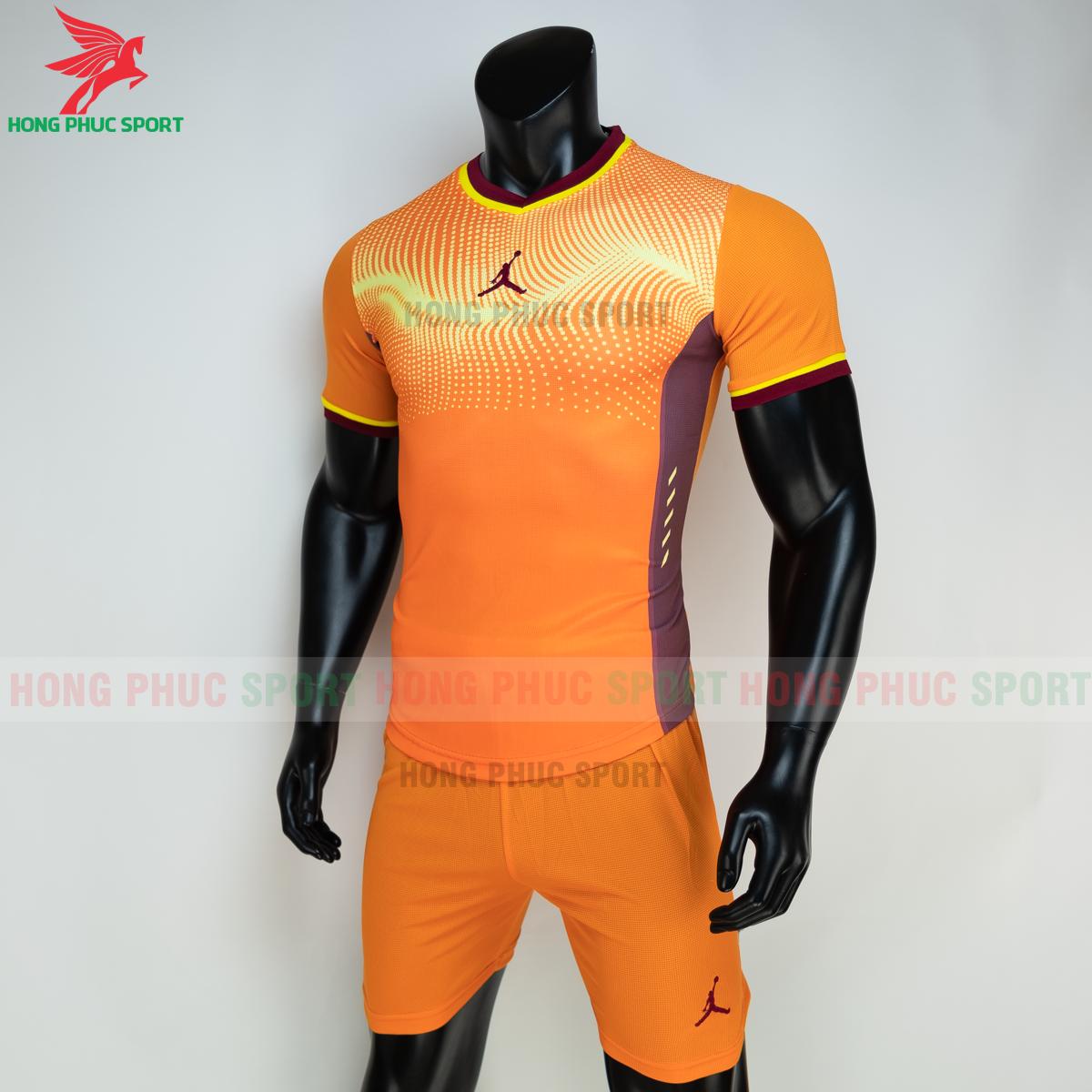 Áo đá banh không logo JORDAN WAVE 2021 màu cam (trái)